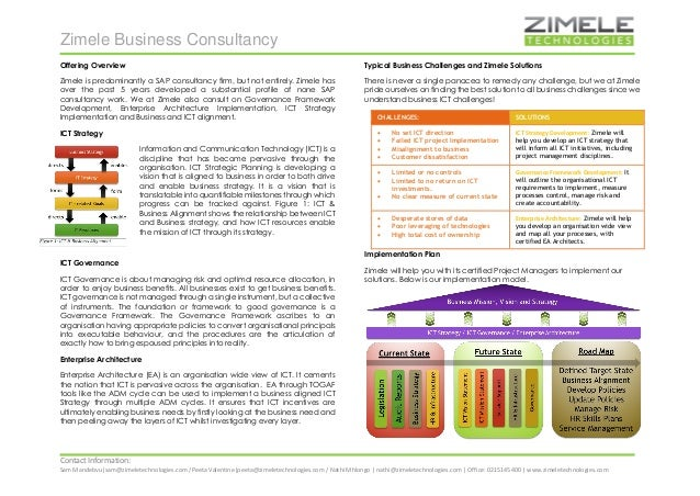 Zimele Business Consultancy  Contact Information:  Sam Mandebvu|sam@zimeletechnologies.com /Peeta Valentine|peeta@zimelete...