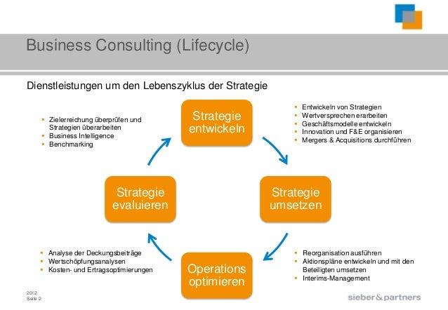 Business Consulting (Lifecycle)Dienstleistungen um den Lebenszyklus der Strategie                                         ...