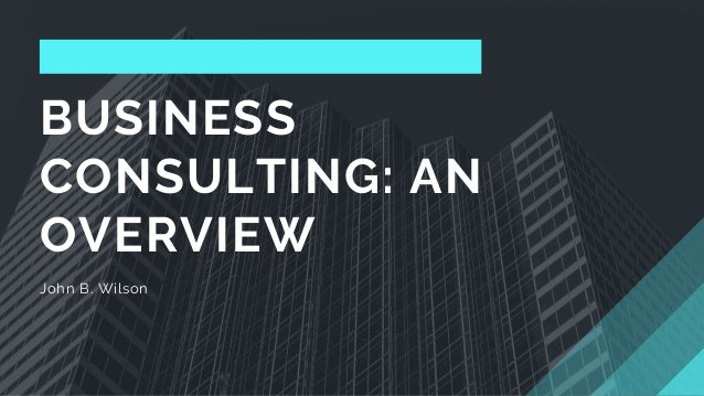 BUSINESS CONSULTING: AN OVERVIEW John B. Wilson