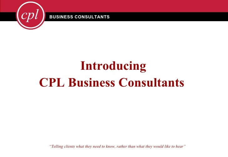 Introducing CPL Business Consultants