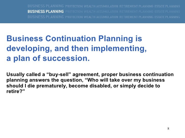 Business Continuation