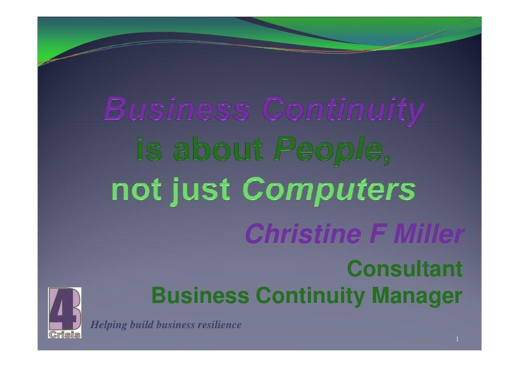 Christine Mill                                     Ch i ti F Miller                               Consultant              ...