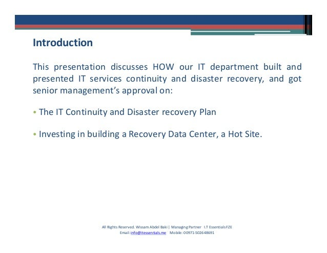 business continuity failure case study It-related business continuity & disaster recovery all rights reserved  business continuity management (case study)  the main factors in the success or failure of companies, due to the high dependency on all its forms.