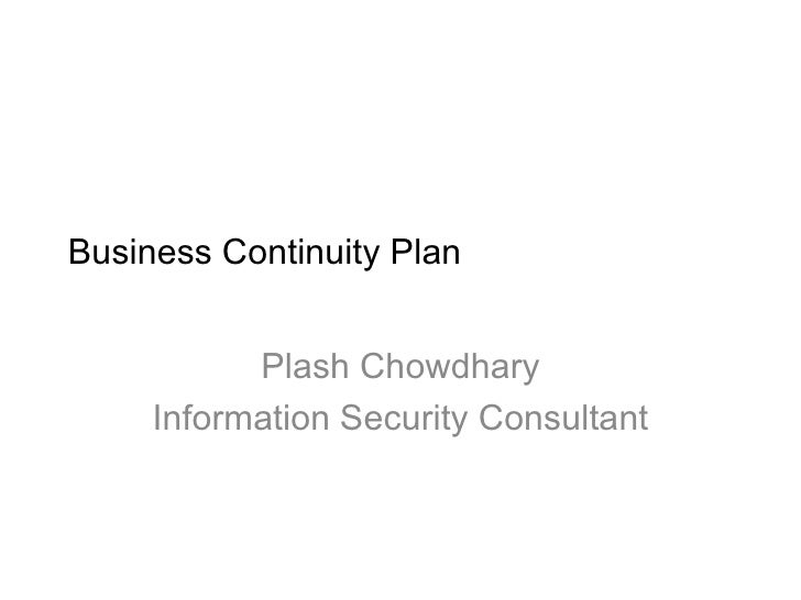 word business continuity plan