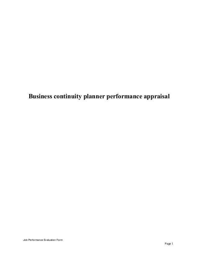 Business continuity planner performance appraisal 1 638gcb1431695888 business continuity planner performance appraisal job performance evaluation form page 1 pronofoot35fo Image collections