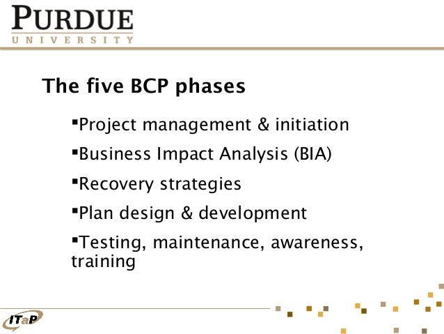 five phases to a business continuity plan bcp