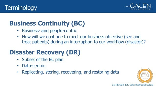 Business Continuity Planning Documentation During Emr