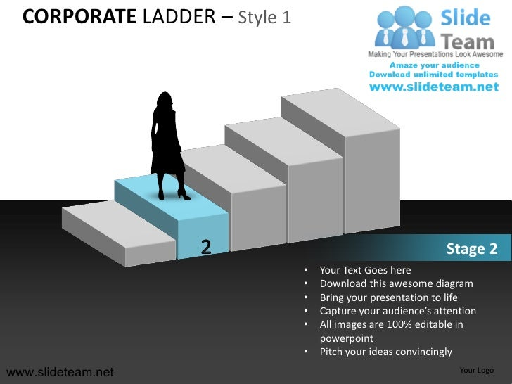 Business Corporate Ladder Style Design 1 Powerpoint Ppt