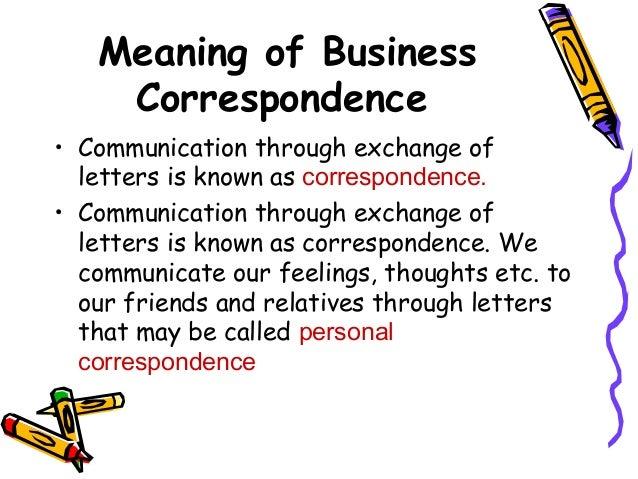 define business correspondence