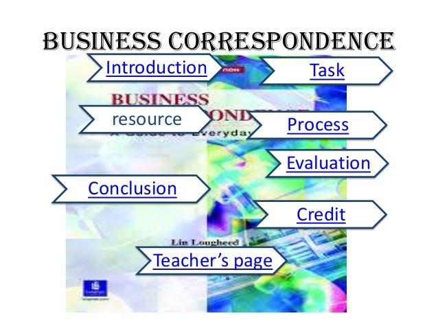 Business correspondence WebQuest