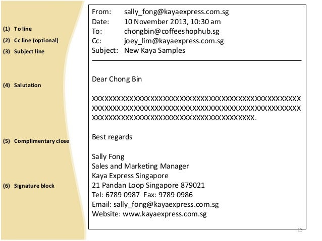 How To Write Business Letter Subject Line