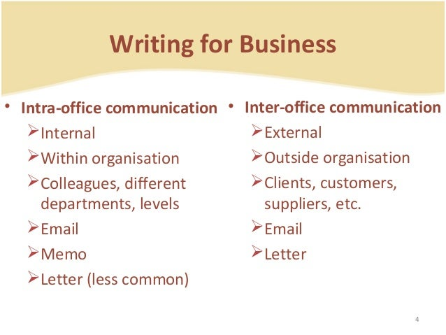 Business Correspondence – Inter Office Letter