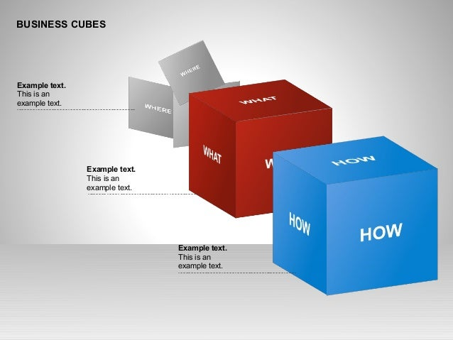 BUSINESS CUBES Example text. This is an example text. Example text. This is an example text. Example text. This is an exam...
