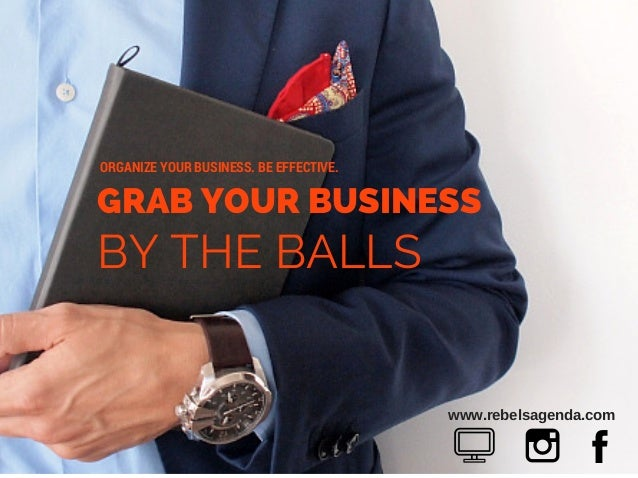 www.rebelsagenda.com GRAB YOUR BUSINESS BY THE BALLS ORGANIZE YOUR BUSINESS. BE EFFECTIVE.