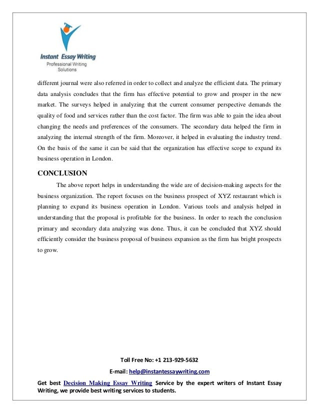 research paper essay format personal essay samples for high school  sample report on business decision making by instant essay writing