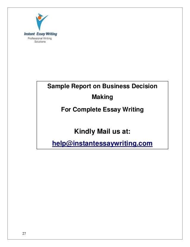 sample report essay