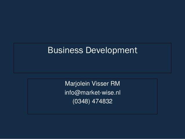 Business DevelopmentMarjolein Visser RMinfo@market-wise.nl(0348) 474832