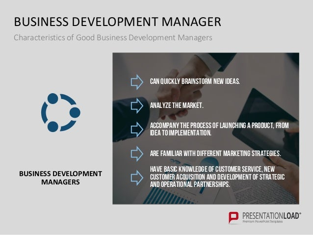 Business development ppt template business development manager characteristics flashek