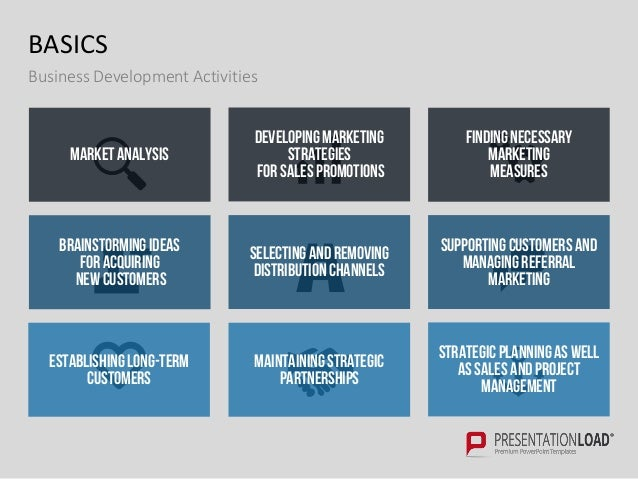 Business development ppt template basics business development areas business development marketing sales product development 9 flashek Choice Image