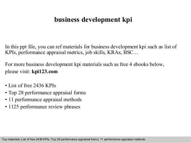 Business development kpi business development kpi in this ppt file you can ref materials for business development kpi flashek Image collections