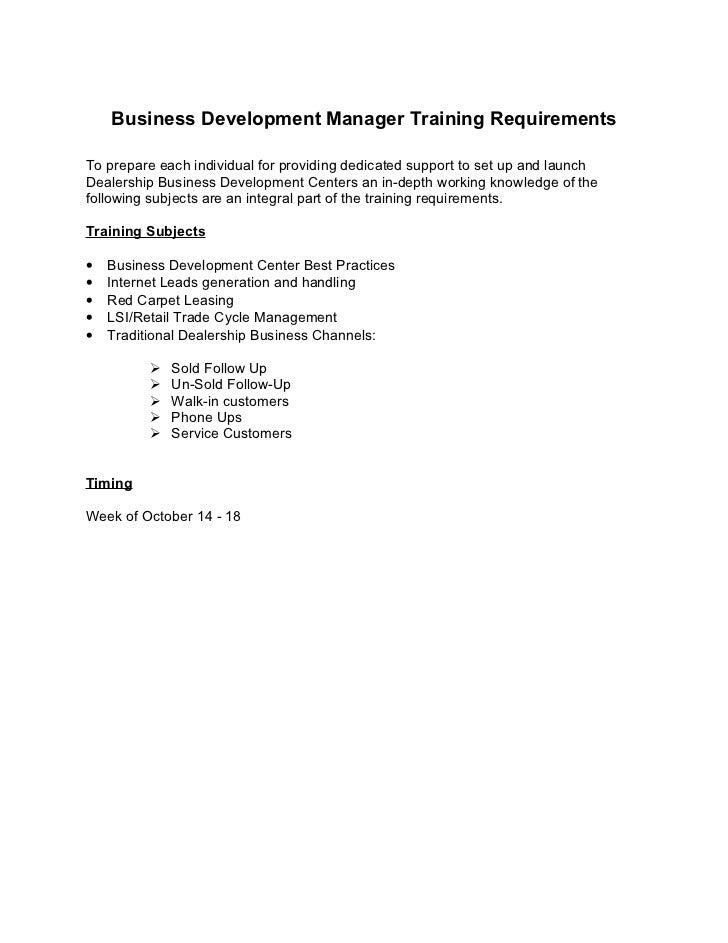 Business development manager job description ford – Business Development Job Description