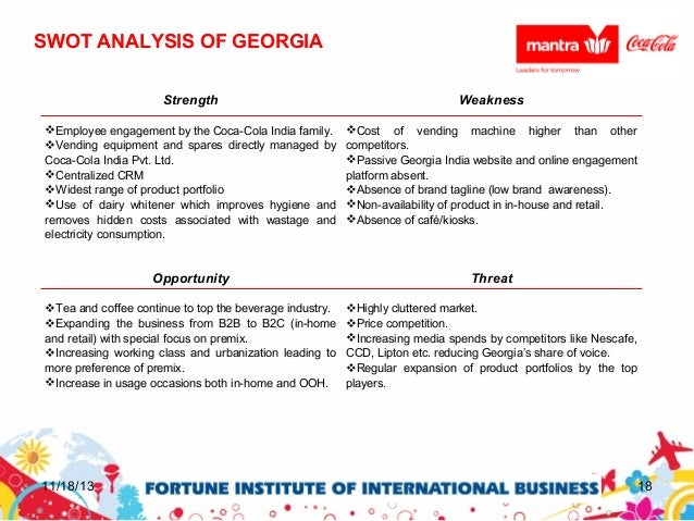 Business development of georgia(coca cola india private limited)