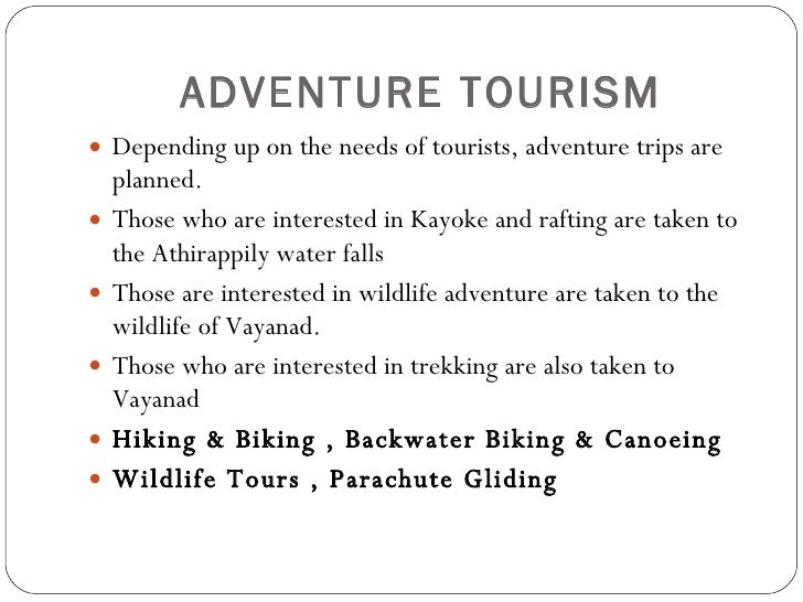 Adventure tourism business plan