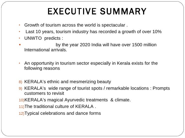 sample business plan for tourism industry