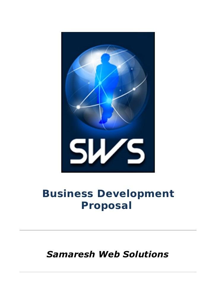 Business Development      ProposalSamaresh Web Solutions