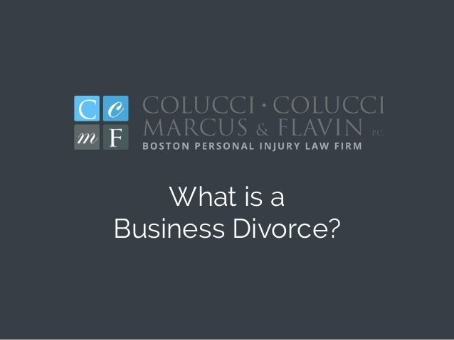 What is a Business Divorce?