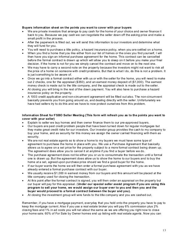 Owner Financing Contract Template Vosvetenet – Mortgage Contract Template