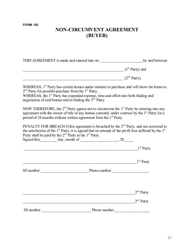 Real estate investor business plan – Investors Agreement Template