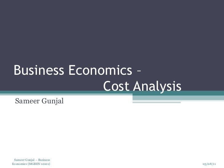 economic analysis of a firm Department of ag economics mf-2184  first is to develop an economic analysis  to determine whether  the business person to determine where the company.