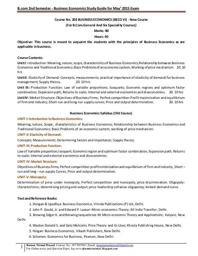 Business Economics - BSc Hons (Modular)