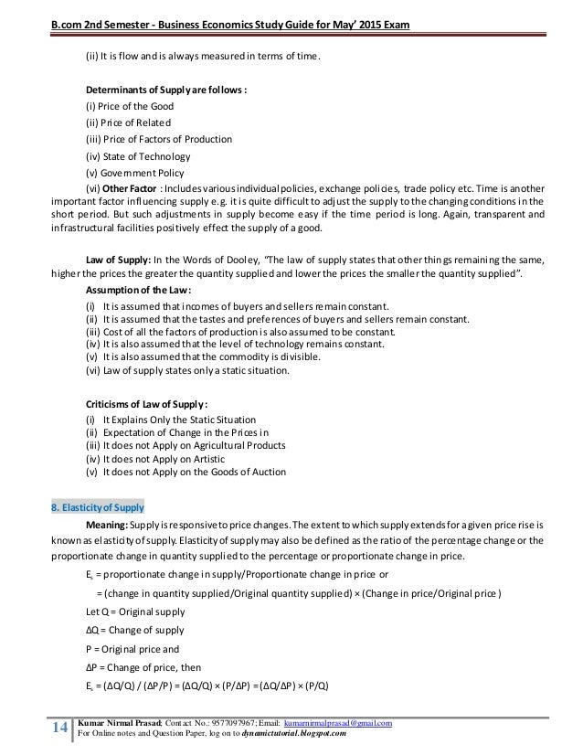 Study Notes on Economics - Economics Discussion