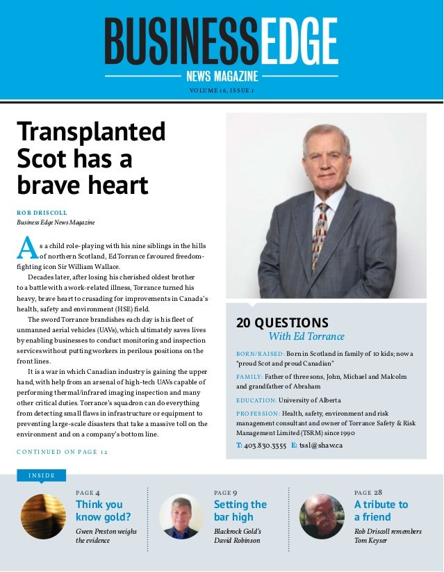 VOLUME 16, ISSUE 1 I N S I D E Transplanted Scot has a brave heart As a child role-playingwith his nine siblings in the hi...