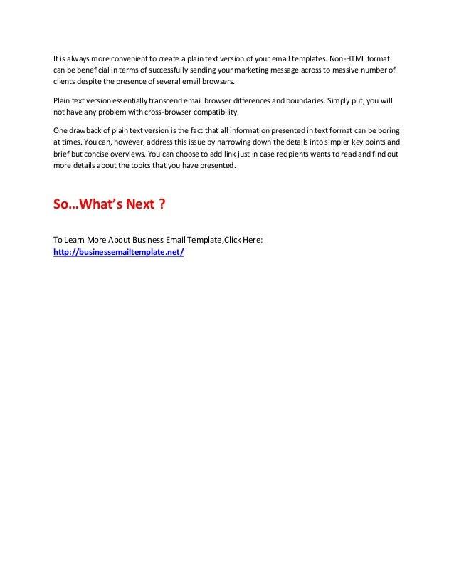 Business email template – Business Email Template