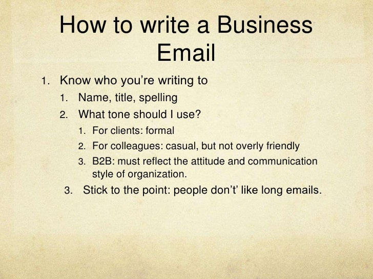 formal business e mail