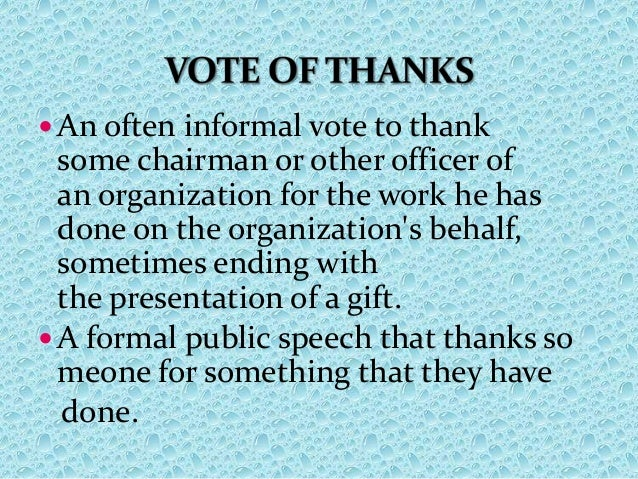 vote of thank on annual day Search for jobs related to school annual day vote thanks or hire on the world's largest freelancing marketplace with 14m+ jobs it's free to sign up and bid on jobs.