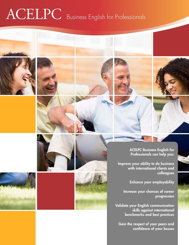 ACELPC   Business English for Professionals                                      ACELPC Business English for              ...