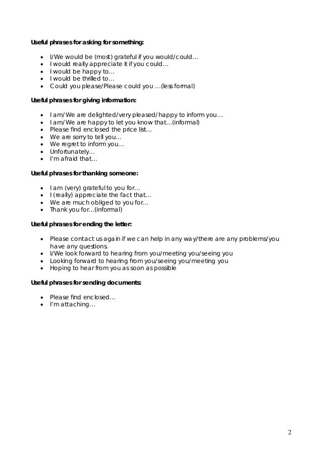 Business English How To Write Cover Letters