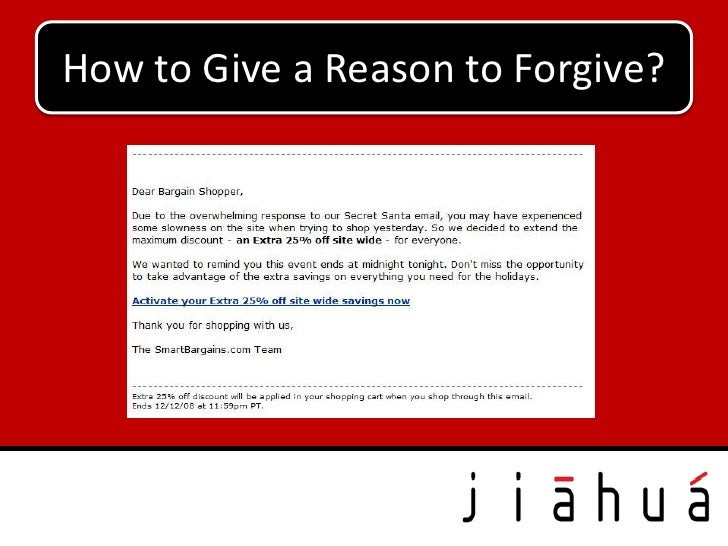 How to Give a Reason to Forgive?