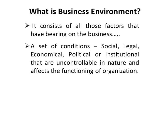 the political social and legal environment of business