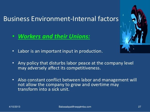 how internal environment affects business Firm is surrounded by internal & external force (marketing environment) have great effect on firm's ability to maintain relations with target customers.
