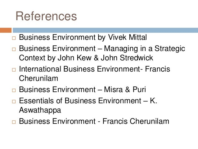 Understanding the nature of the national environment in which businesses operate