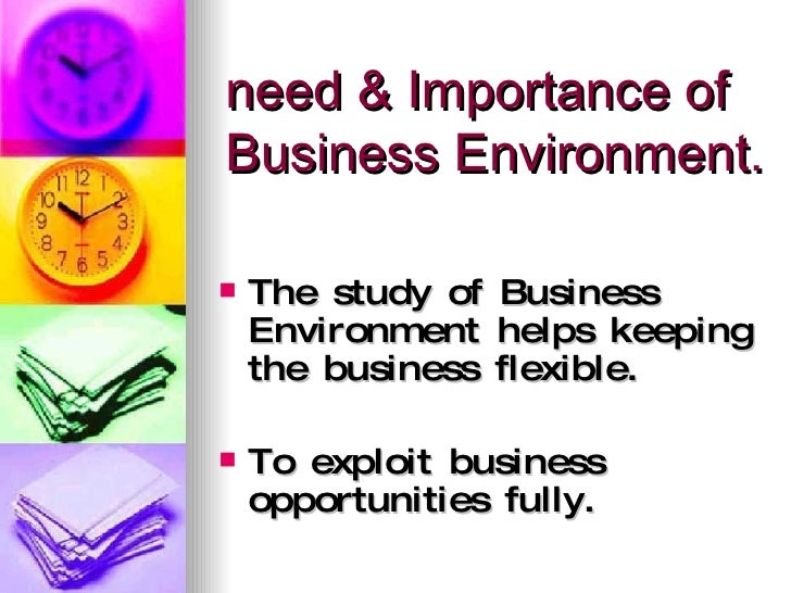 importance of studying the business environment