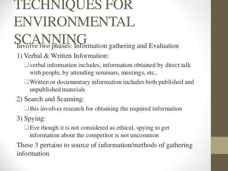 Business environmental scanning ppt for Environmental scan template