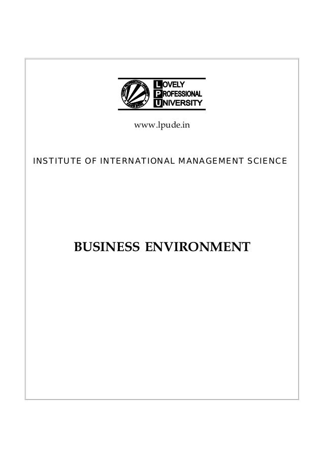 Business environment dmgt401 e book fandeluxe Gallery