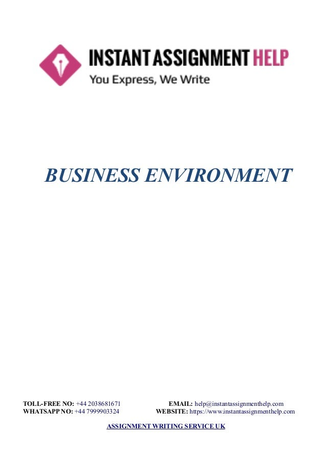 business environment sample instant assignment help business environment toll no 44 2038681671 email help instantassignmenthelp