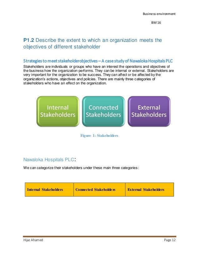 stakeholder objectives tutor2u